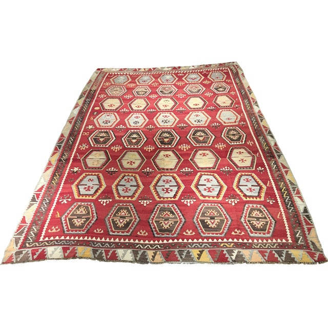 1920s Turkish Kilim - 8′1″ × 11′9″ - Image 1 of 8