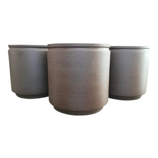David Cressey Robert Maxwell Earthgender Ceramic Planters - Set of 3 For Sale