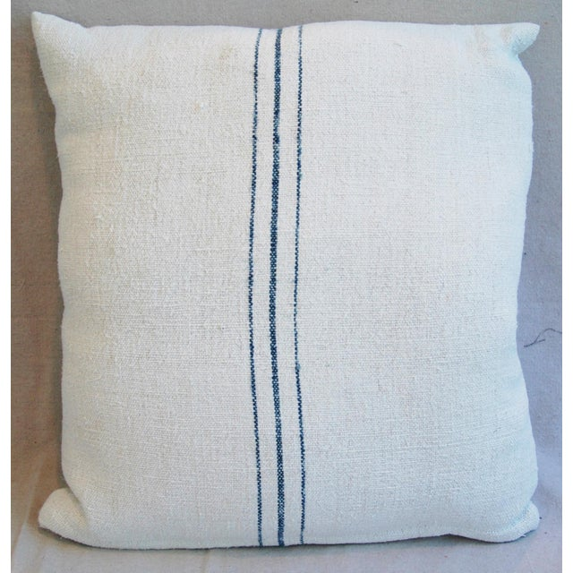Vintage French Grain Sack Textile Pillows - A Pair - Image 5 of 10