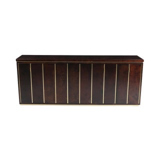 Aldo Tura High End Credenza in Brass and Parchment For Sale