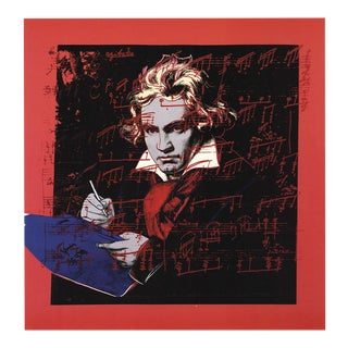 """Andy Warhol Beethoven 24.5"""" X 19"""" Poster 1990 Pop Art For Sale"""