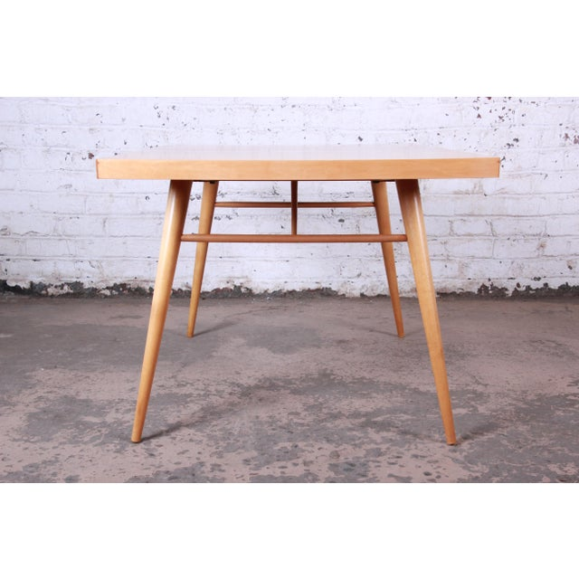 1950s Paul McCobb Planner Group Maple Extension Dining Table For Sale - Image 10 of 13