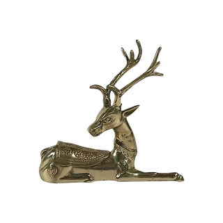 Lidded Brass Deer For Sale