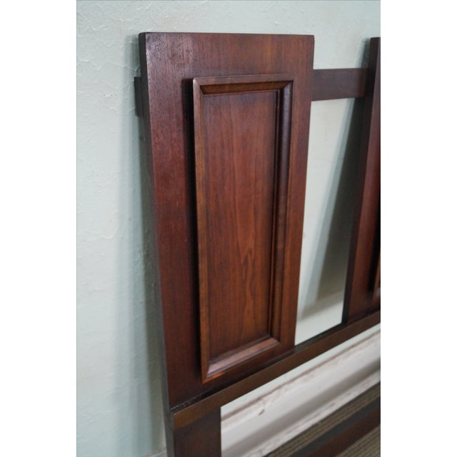 Mid Century Walnut Floating Panel King Size Headboard For Sale - Image 5 of 10