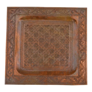Engraved Copper Tray For Sale