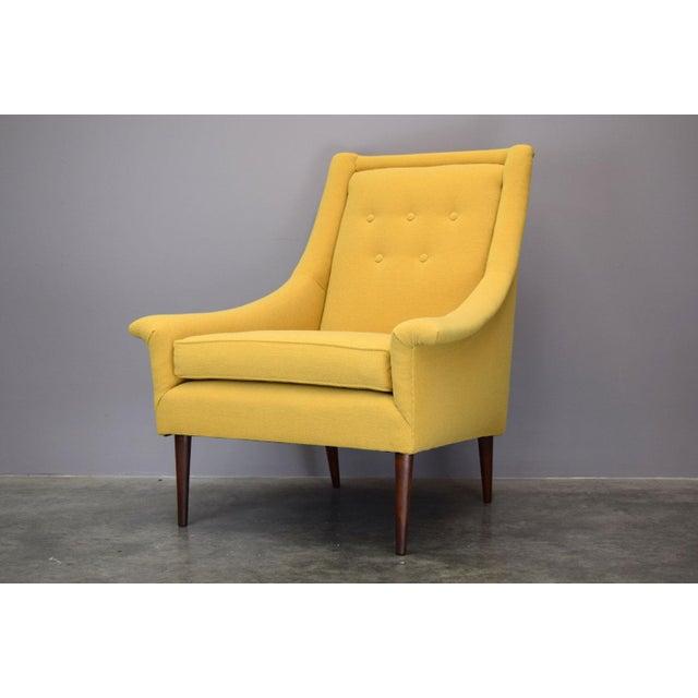 Refurbished Mid-Century Lounge Chair in Maharam Kvadrat Voyage - Image 2 of 7