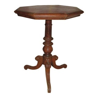 Regency Leather-top Side Table With Gilt Tooling For Sale