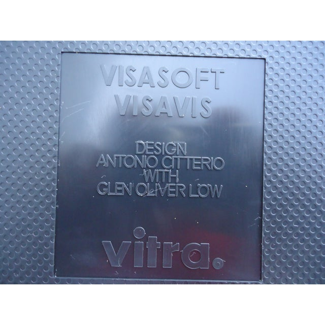 Modern Antonio Citterio for Vitra Visasoft Visavis Guest and Conference Chairs- Set of 6 For Sale - Image 12 of 13