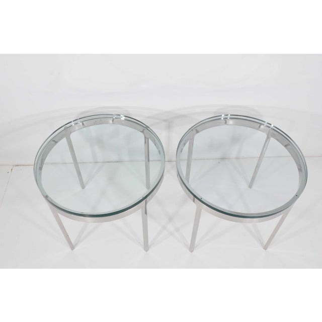 Silver Nicos Zographos Side Tables - A Pair For Sale - Image 8 of 9