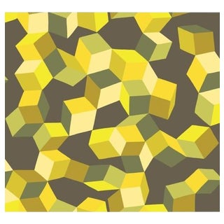 Cole & Son Puzzle Wallpaper Roll - Yellow And Black For Sale