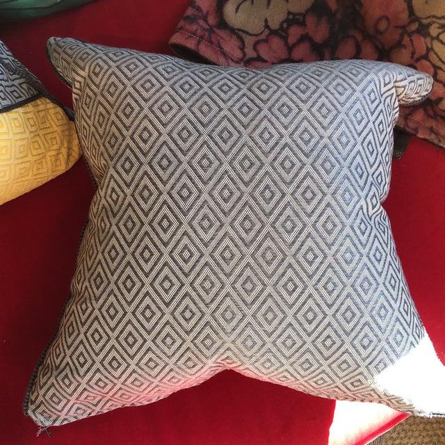 Custom Pillows in Jim Thompson Outdoor Fabric - A Pair - Image 5 of 9