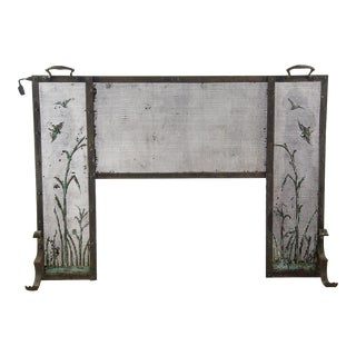 Italian Iron Fireplace Screen For Sale