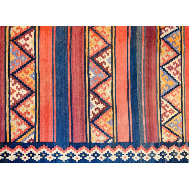1940s Early 20th Century Zarand Kilim Rug For Sale - Image 5 of 8