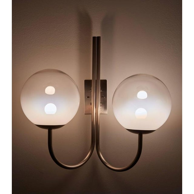 Four Opaline Glass Wall Lights - Image 7 of 9