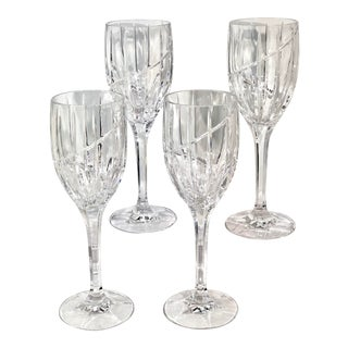 Mikasa Uptown Vintage Crystal Water Glasses - Set of 4 For Sale