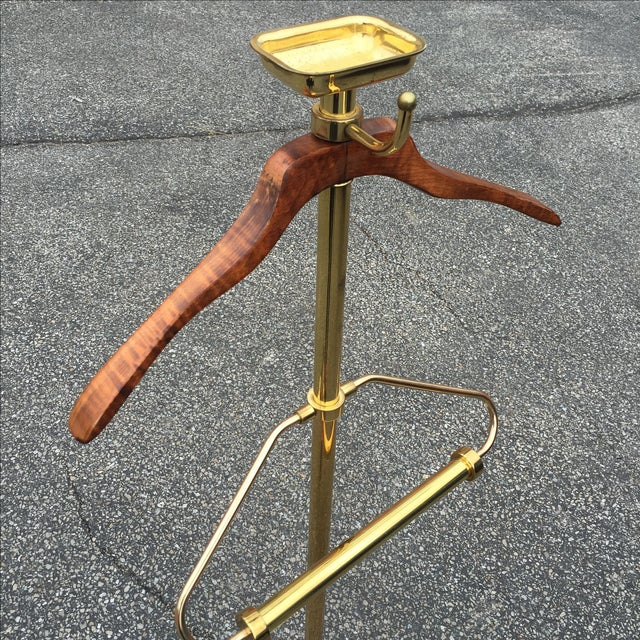 Vintage Brass & Lacquer Valet - Image 9 of 9