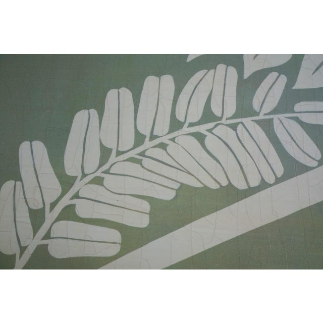 Add an element of a modern botanical to your home with this floral fern organic modern botanical. The flora is an off-...