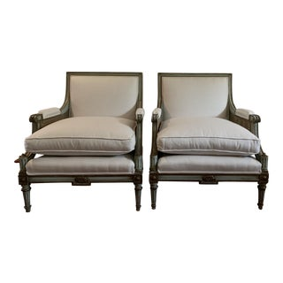 1930s Vintage Louis XVI Bergeres- A Pair For Sale