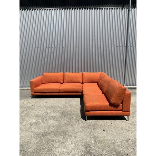 Orange Orange Dellarobia Dania Sectional For Sale - Image 8 of 8