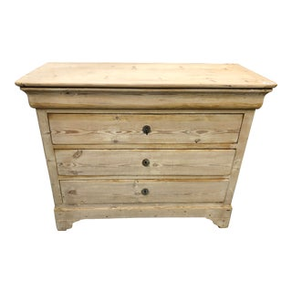 19th Century French Louis Philippe Tan Commode For Sale