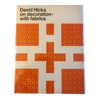 """1970s David Hicks """"On Decorating With Fabrics"""" Book For Sale"""