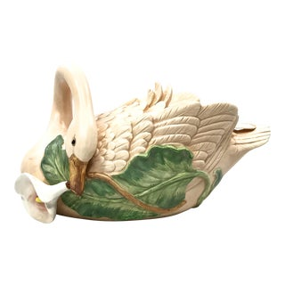 Fitz & Floyd Swan Tureen & Ladle - A Pair For Sale
