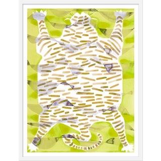 "Medium ""Tiger Rug Citron"" Print by Kate Roebuck, 27"" X 35"""