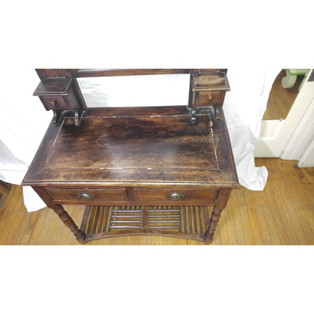 20th Century British Colonial Rose Wood Vanity For Sale - Image 4 of 10