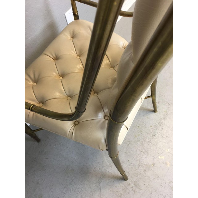 Mastercraft Brass Dining Chairs - Set of 4 - Image 9 of 9