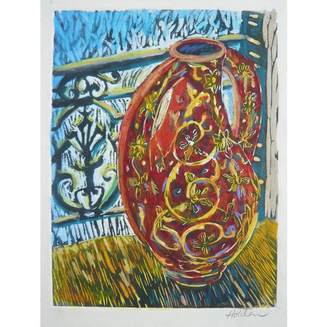 """""""Red Vase"""" Colorful Print - Image 1 of 3"""