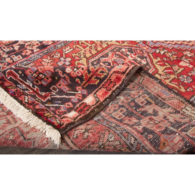 "Tribal Vintage Heriz Runner - 3'8"" x 13'8"" For Sale - Image 3 of 5"