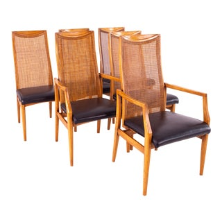 Drexel Heritage Mid Century Dining Chairs - Set of 6 For Sale