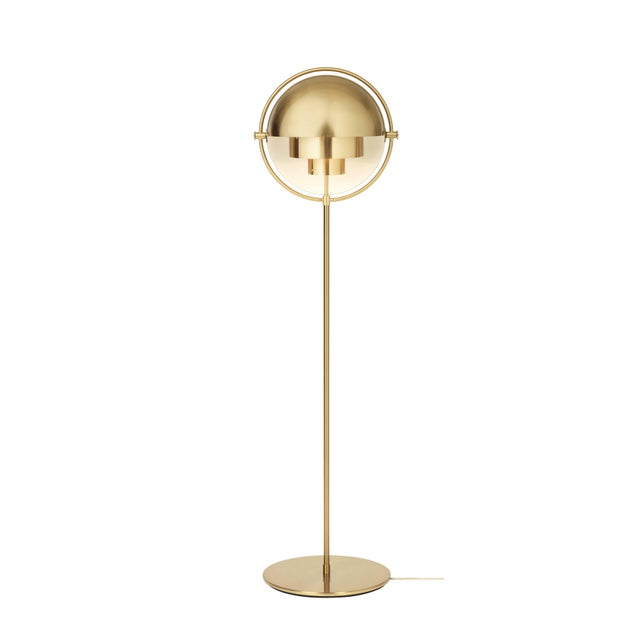 Brass multi-light floor lamp, Louis Weisdorf Dimensions: 148 x 36 x 36 cm Material: Brass Designer: Louis Weisdorf...