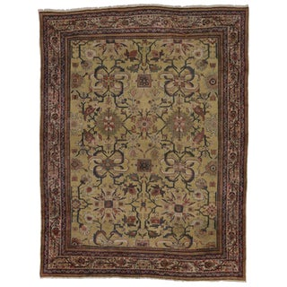 Antique Persian Sultanabad Rug with Modern Style