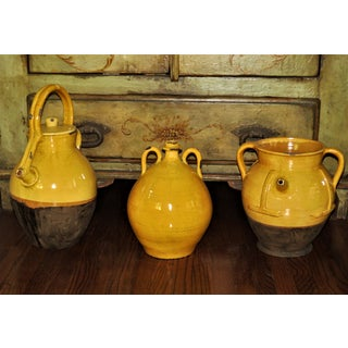 18th Century French Mustard Glazed Confit Pots - Set of 3 Preview