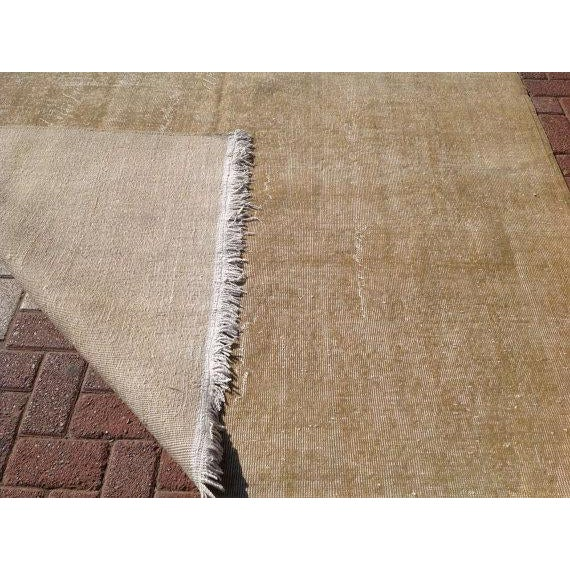 Vintage Turkish Oushak Rug - 6′11″ × 9′10″ For Sale In Raleigh - Image 6 of 6