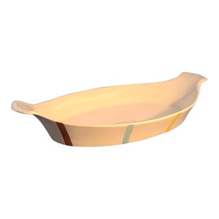 Vintage Mid Century De Sphinx Parafeu Made in Holland Ceramic Cookware Au Gratin Dish For Sale