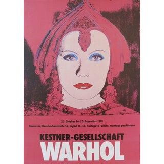 1981 Original Warhol Exhibition Poster, Greta Garbo For Sale