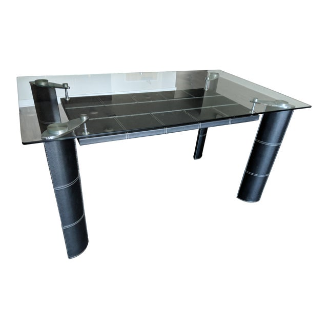 Modern Glass Top Dining Table For Sale