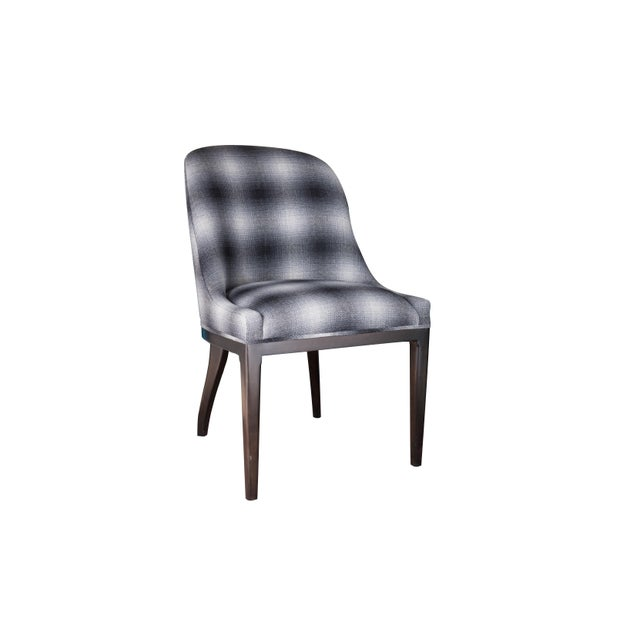 Fully Upholstered Spoon Back Dining Chair For Sale In New York - Image 6 of 6