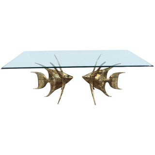 Rare Alain Chervet Fish Table For Sale