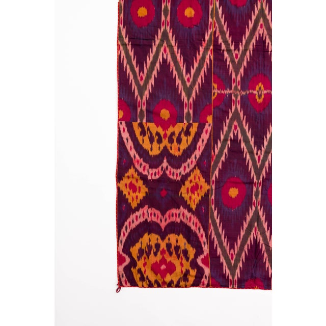 Late 19th Century Uzbekistan Tribal Silk Ikat Panel For Sale In Jacksonville, FL - Image 6 of 11