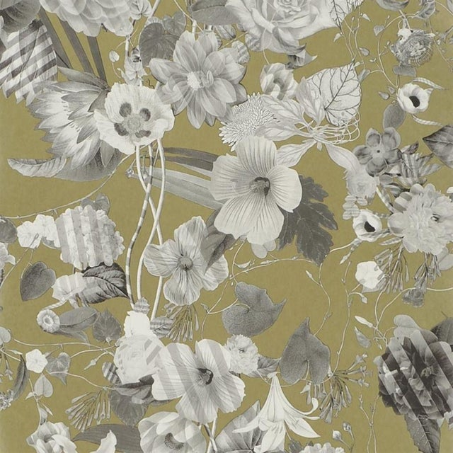 Christian Lacroix Malmaison Doré Wallpaper Sample For Sale