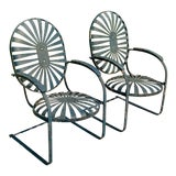 Image of 1930s Francois Carre Early Bouncy Chairs - a Pair For Sale