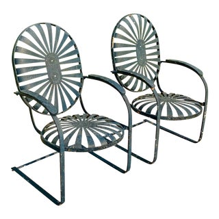 1930s Francois Carre Early Bouncy Chairs - a Pair For Sale