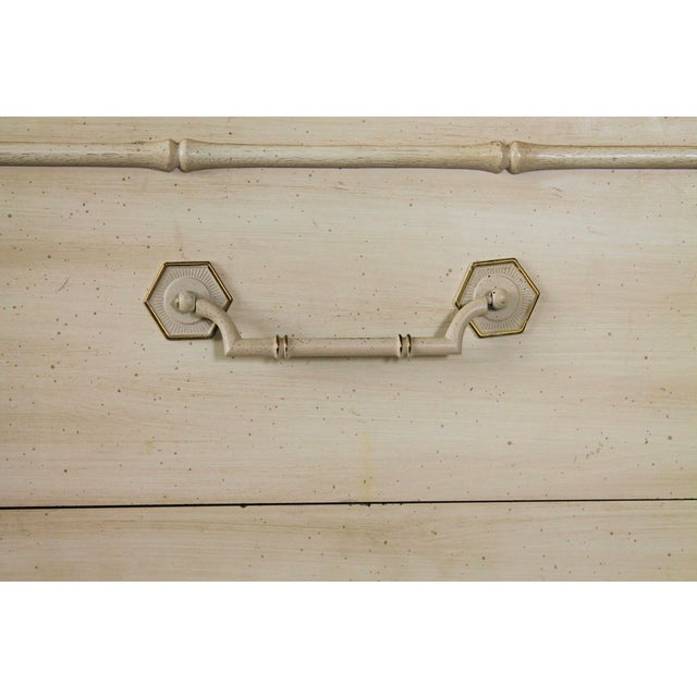 Thomasville Faux Bamboo Chest of Drawers For Sale In Milwaukee - Image 6 of 11
