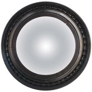 19th Century Ebonized Convex Mirror For Sale