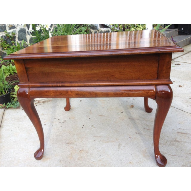 Amish Made Solid Cherry Side Table For Sale In Washington DC - Image 6 of 13