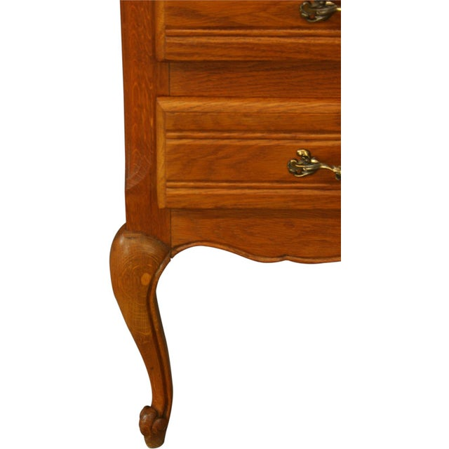 Wood Vintage French Country Carved Oak Secretary For Sale - Image 7 of 11