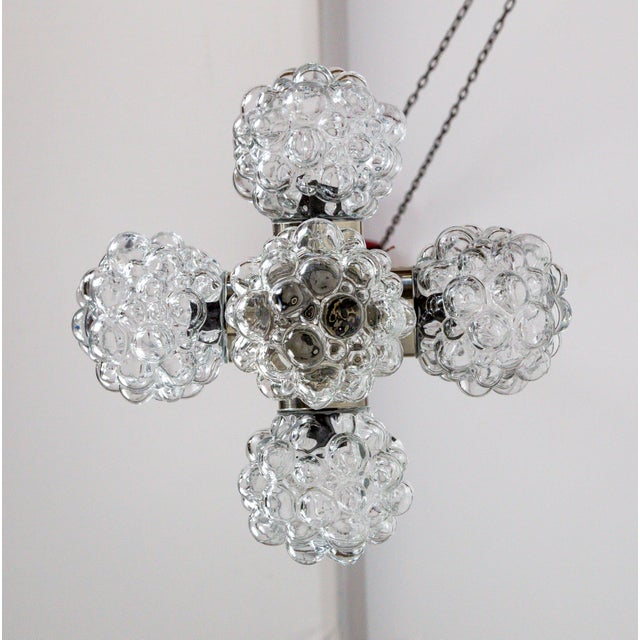 Chrome Bubble Glass Cluster Chandelier by Helena Tynell (2 Available) For Sale - Image 7 of 9